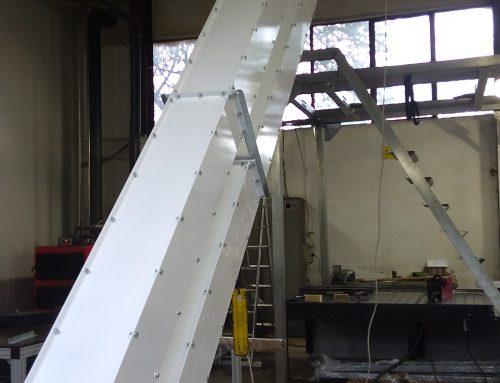 Кофичков Z-елеватор за транспортиране на ядки