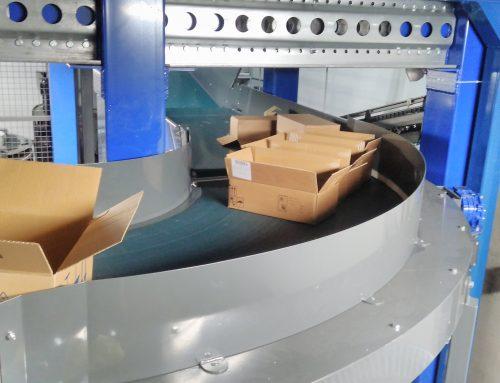 Софарма Трейдинг АД – Автоматизирана система за отвеждане на празни кашони